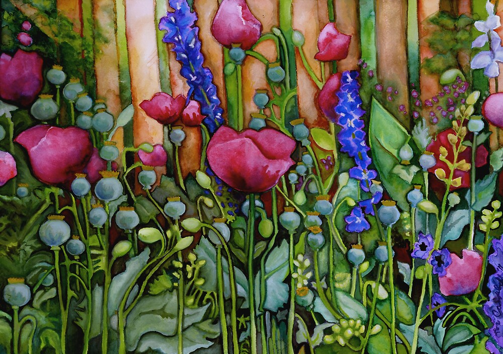 Beltane Poppies  by Lori Elaine Campbell