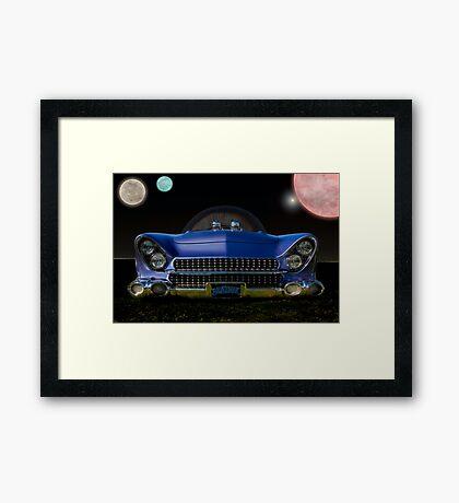 "1955 Ford ""Beatnik Bubbletop"" Intergalactic Planetary Framed Print"