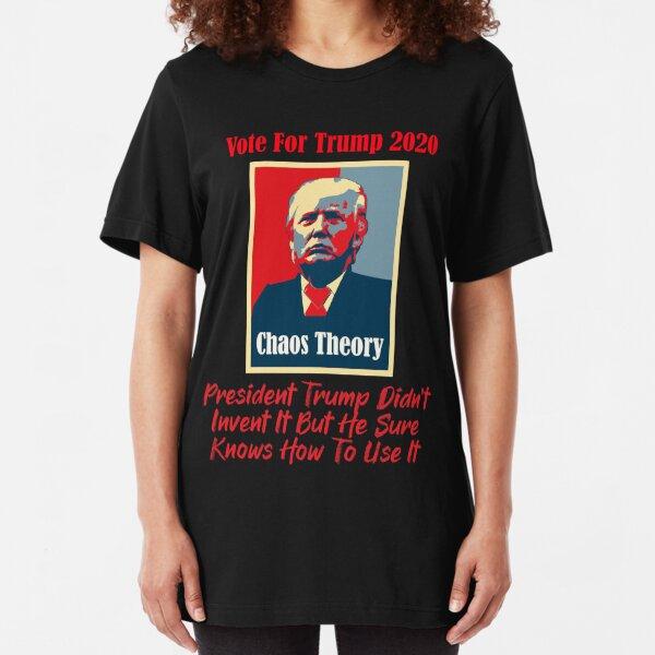 Donald Trump Chaos Theory Slim Fit T-Shirt