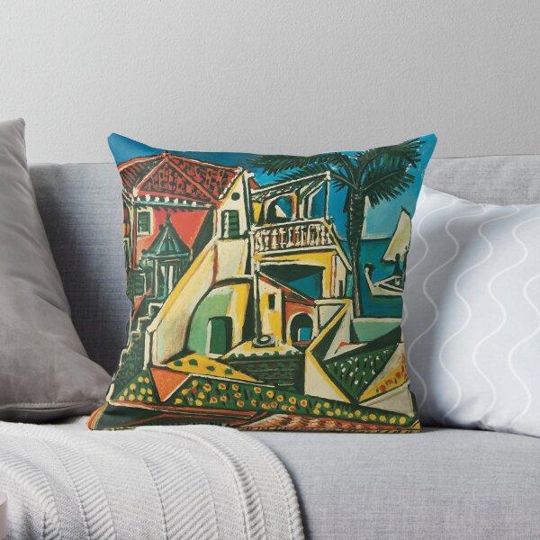 Pablo Picasso Mediterranean Landscape, 1953 Throw Pillow