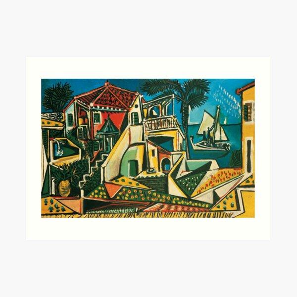Paisaje mediterráneo de Pablo Picasso, 1953 Lámina artística