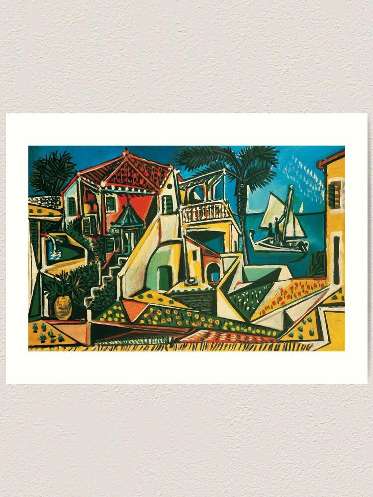 Pablo Picasso Mediterranean Landscape 1953 Art Print By Cinematiquelife Redbubble