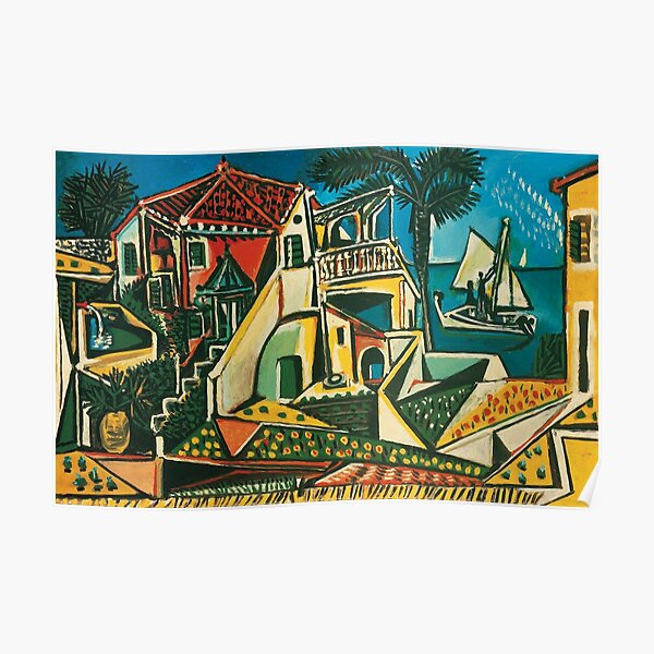 Paysage méditerranéen de Pablo Picasso, 1953 Poster