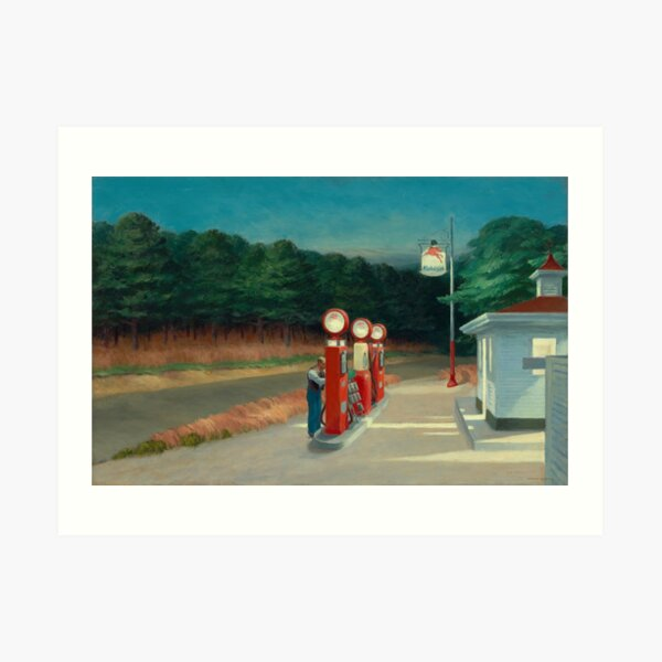 Gas, 1940 par Edward Hopper Impression artistique