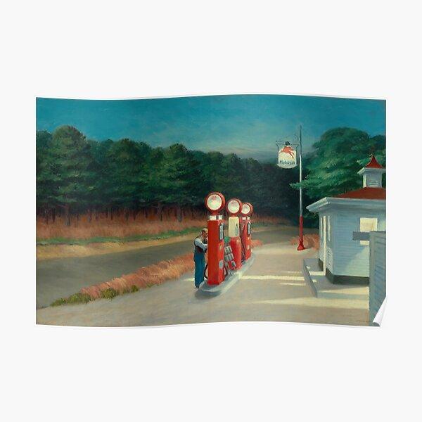 Gas, 1940 by Edward Hopper  Poster
