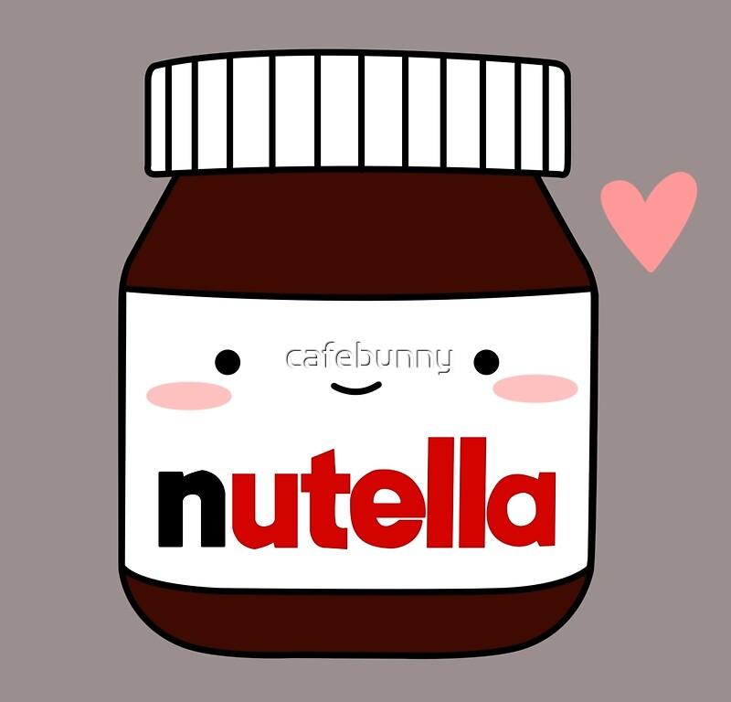 cute nutella jar art prints by cafebunny redbubble