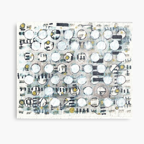 Glimmer : Abstract Metal Print