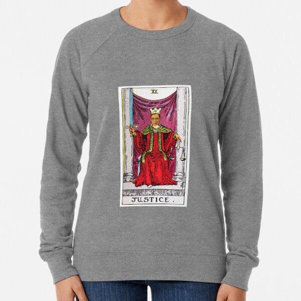 Justice Tarot Card of Ruth Bader Ginsberg Lightweight Sweatshirt