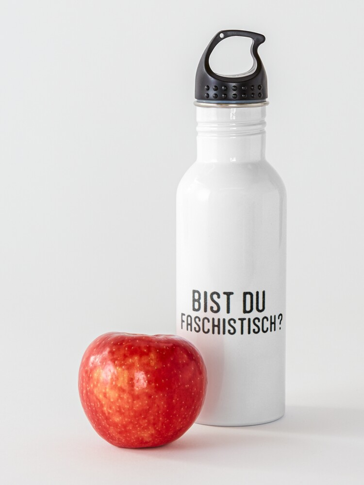 Alternate view of Bist Du Faschistisch? Water Bottle