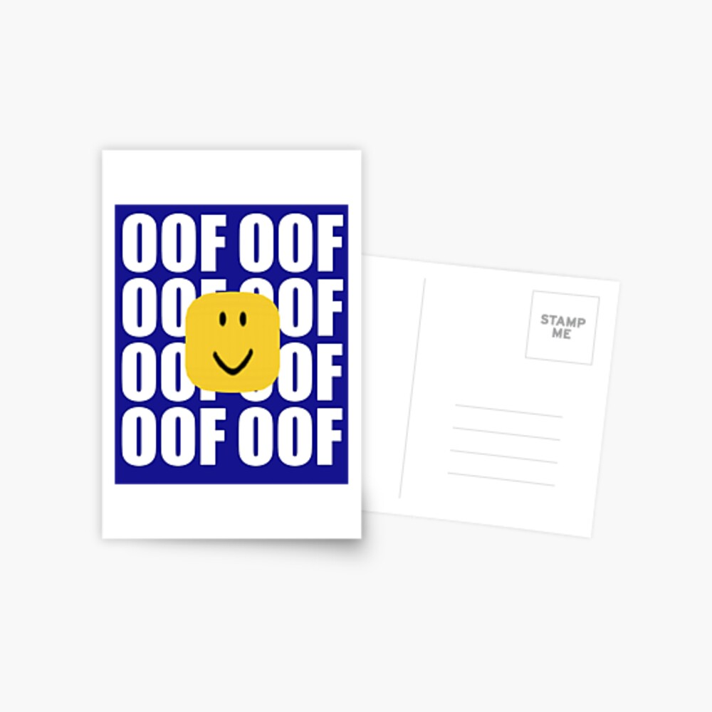 Roblox Oof Meme Funny Noob Head Gamer Gifts Idea Postcard By