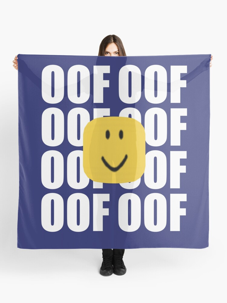 Noob Head Old Smile Roblox Roblox Oof Meme Funny Noob Head Gamer Gifts Idea Scarf By Smoothnoob Redbubble