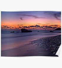 Sunset Over Aphrodite's Beach Poster