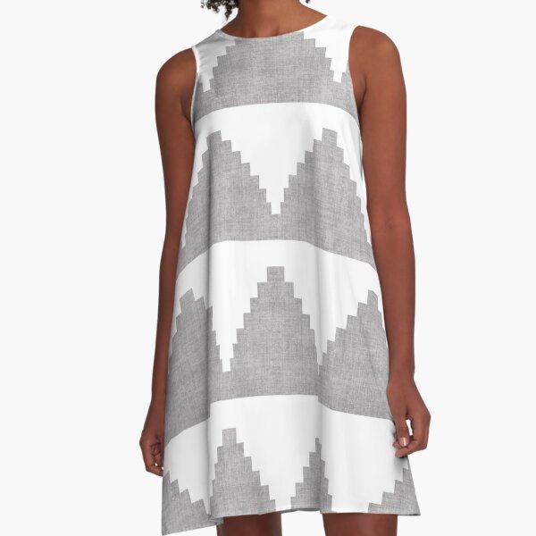 Lash in Grey A-Line Dress