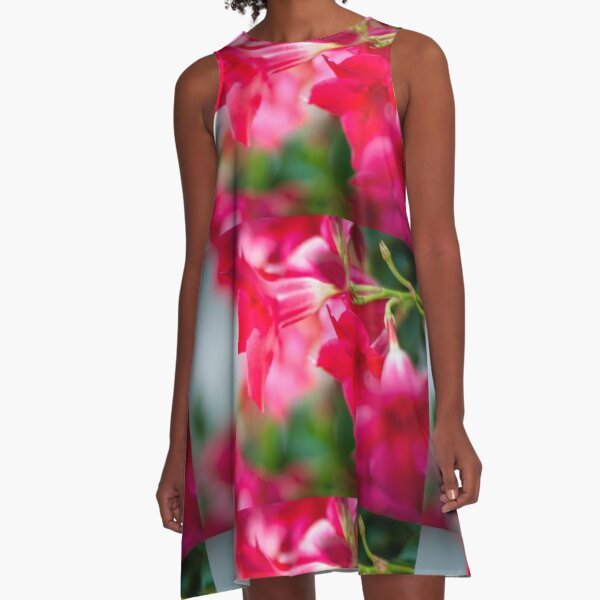 Pretty France Flower A-Line Dress