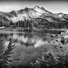 Mt. Jefferson & Scout Lake · Monochrome by Tula Top