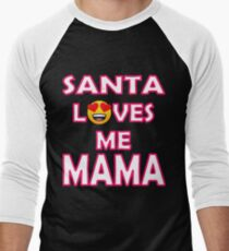 OMG Santa Coming Baseball ¾ Sleeve T-Shirt