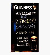 GUINNESS 1759 Photographic Print