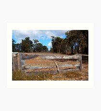 The Wooden Fence.  Art Print