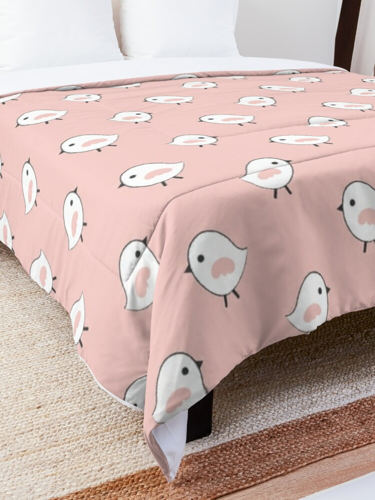 Alternate view of Busy Birdies - Rose Quartz Comforter