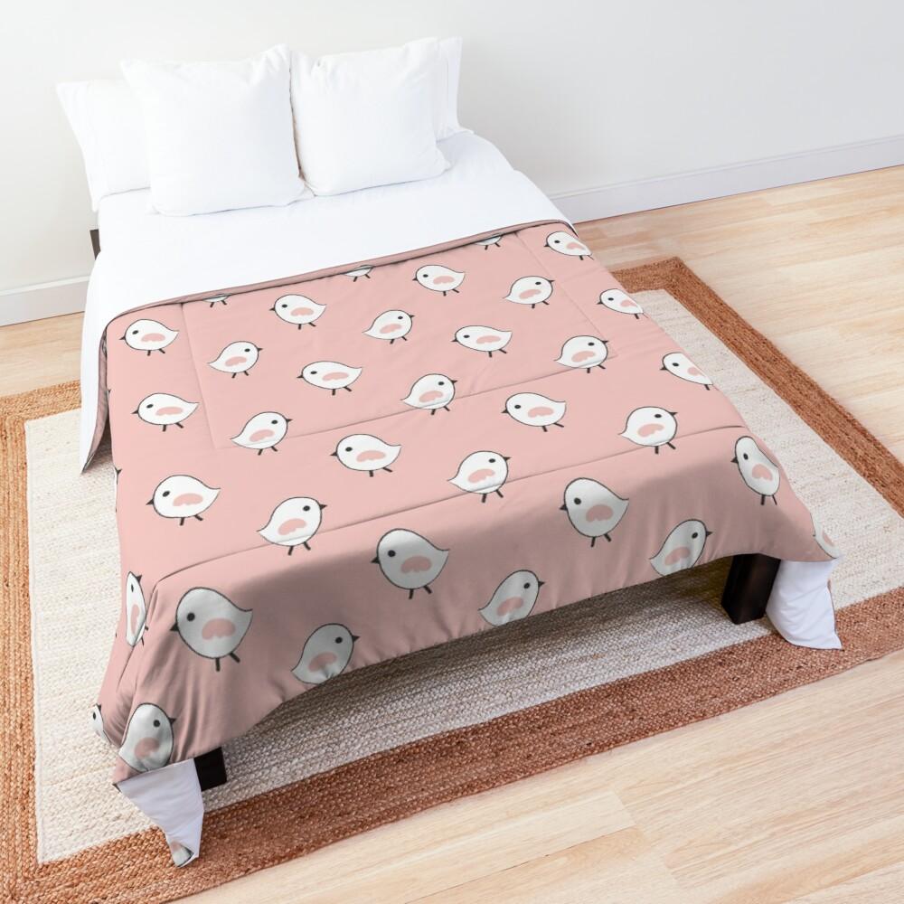 Busy Birdies - Rose Quartz Comforter