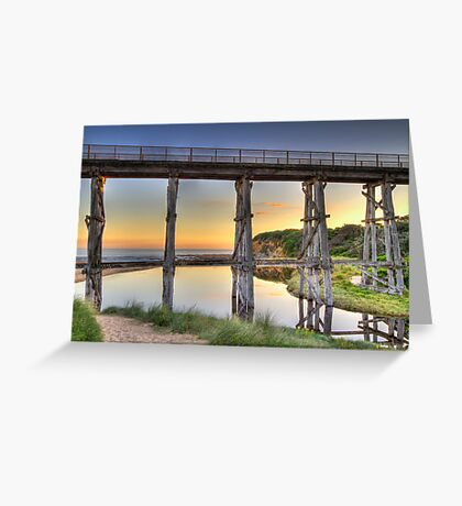 Kilcunda Rail Bridge Sunset • Victoria Greeting Card