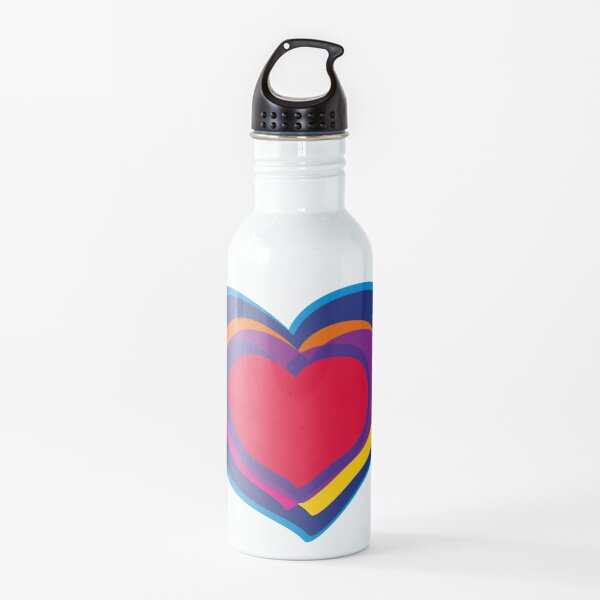 Hearth in rainbow colors Water Bottle