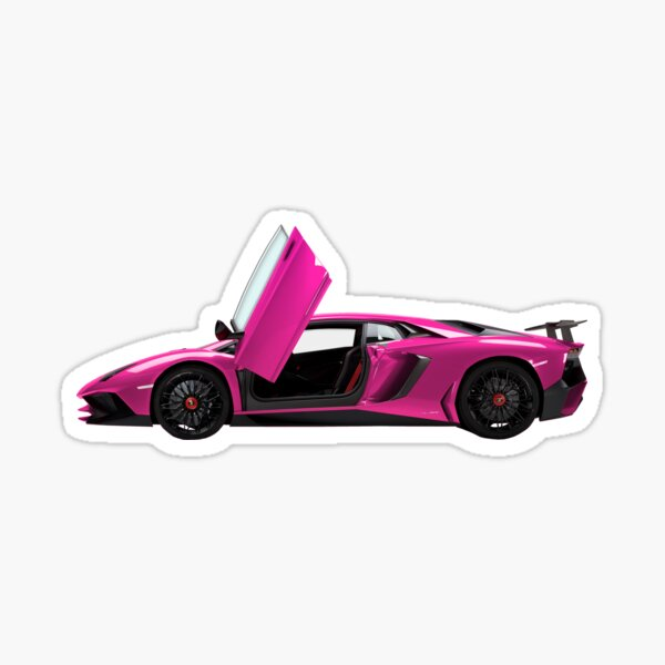 Pink Lambo Sticker
