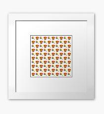 Love Lollipop Emoji JoyPixels Funny Rainbow Sweet Framed Print