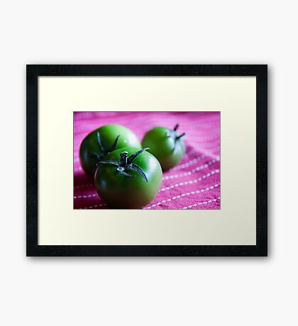 Green Cherry Tomatoes Framed Print