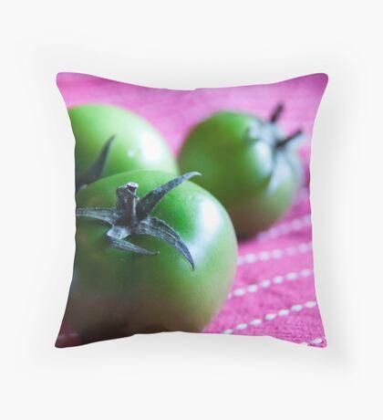 Green Cherry Tomatoes Throw Pillow