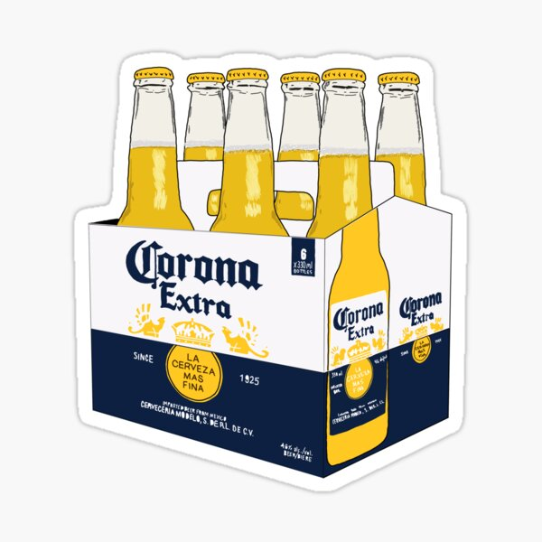 6 pack corona Sticker