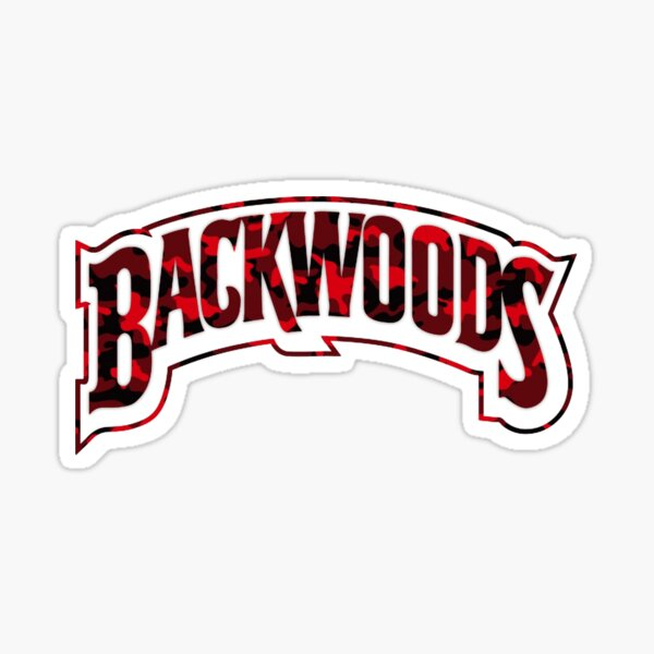 Backwoods Red Camo Sticker