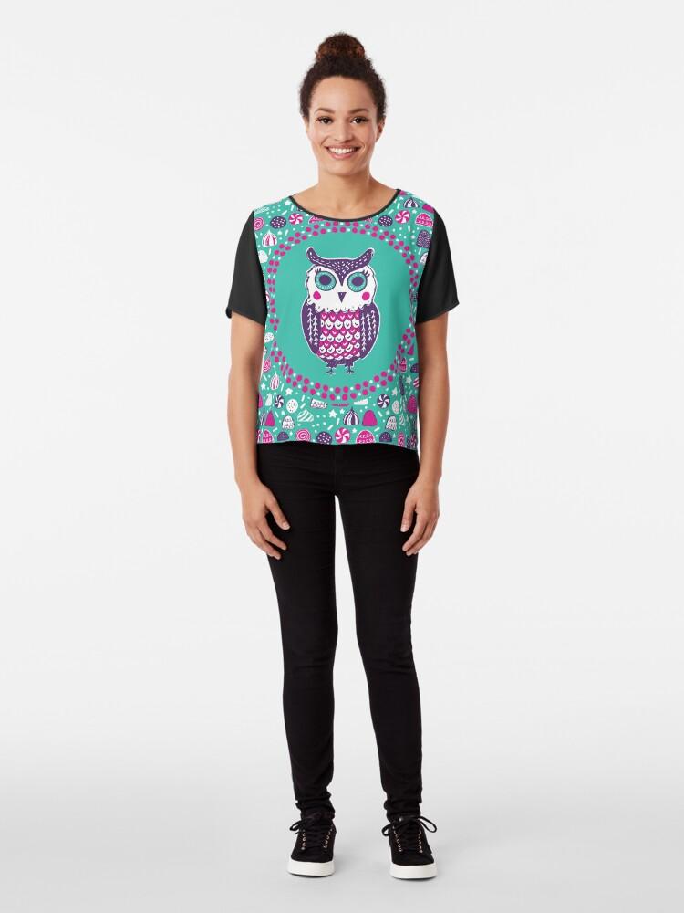 Alternate view of Sweet Owl Chiffon Top