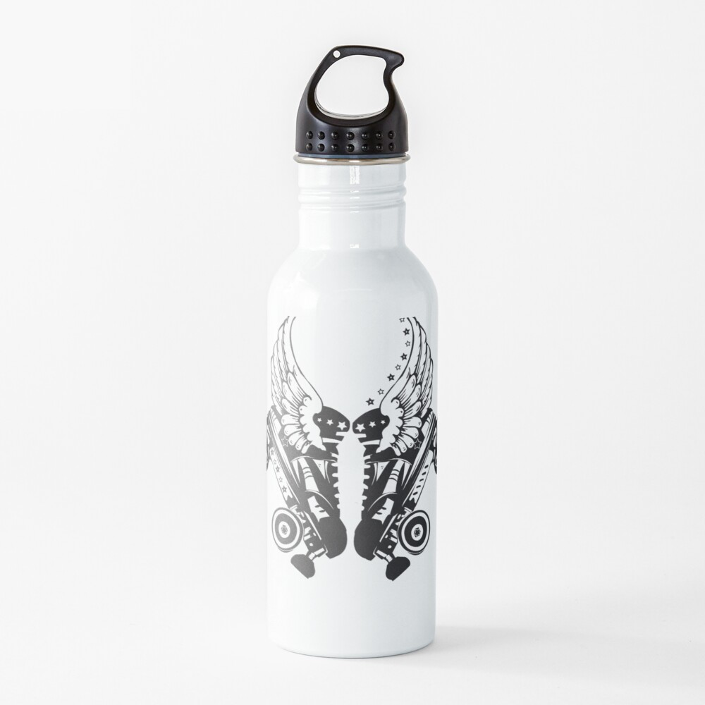 Roller Derby Skates With Wings Water Bottle