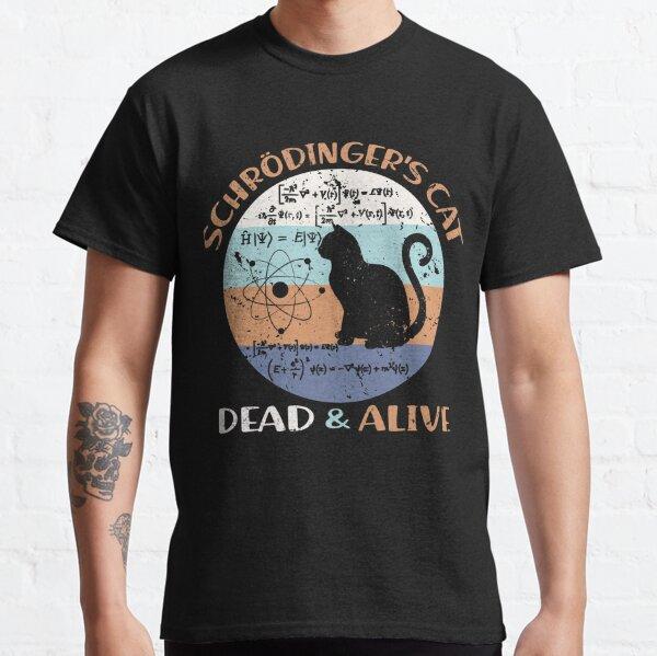 Cadeaux d'amant de chat de professeur de physique de chat de Schroedinger T-shirt classique