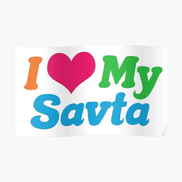 I Love My Savta Poster