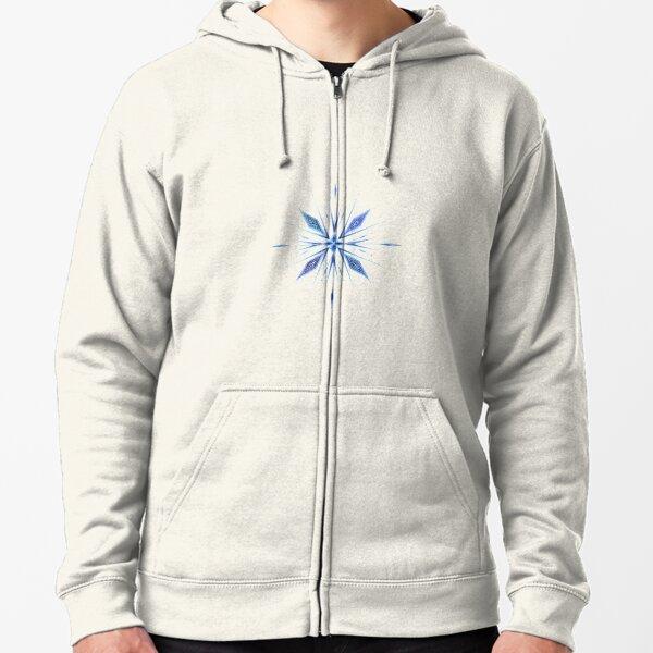 Frozen snowflake Zipped Hoodie