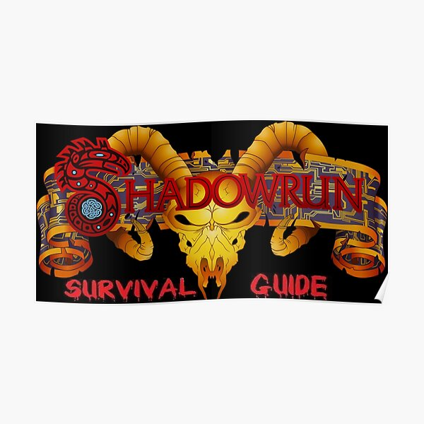 Shadowrun Survival Guide Original Logo Poster