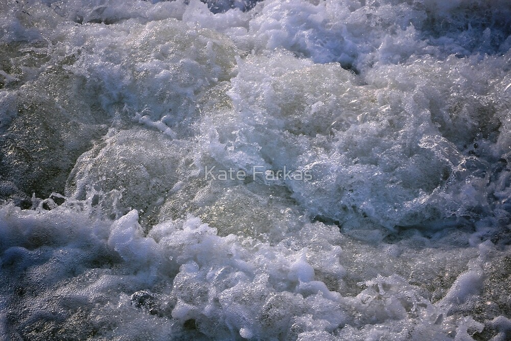 Foam at Spokane Falls by Kate Farkas