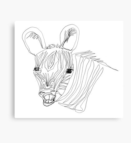 I think this zebra is laughing at me Canvas Print