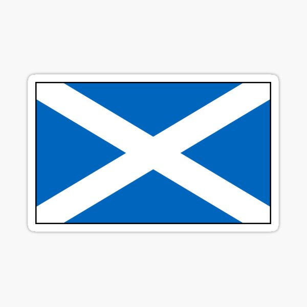 Scotland Flag Stickers, Gifts and other Products Sticker