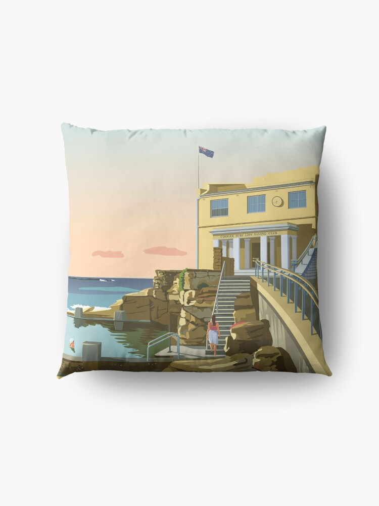 Alternate view of Early swim, Coogee Beach Floor Pillow