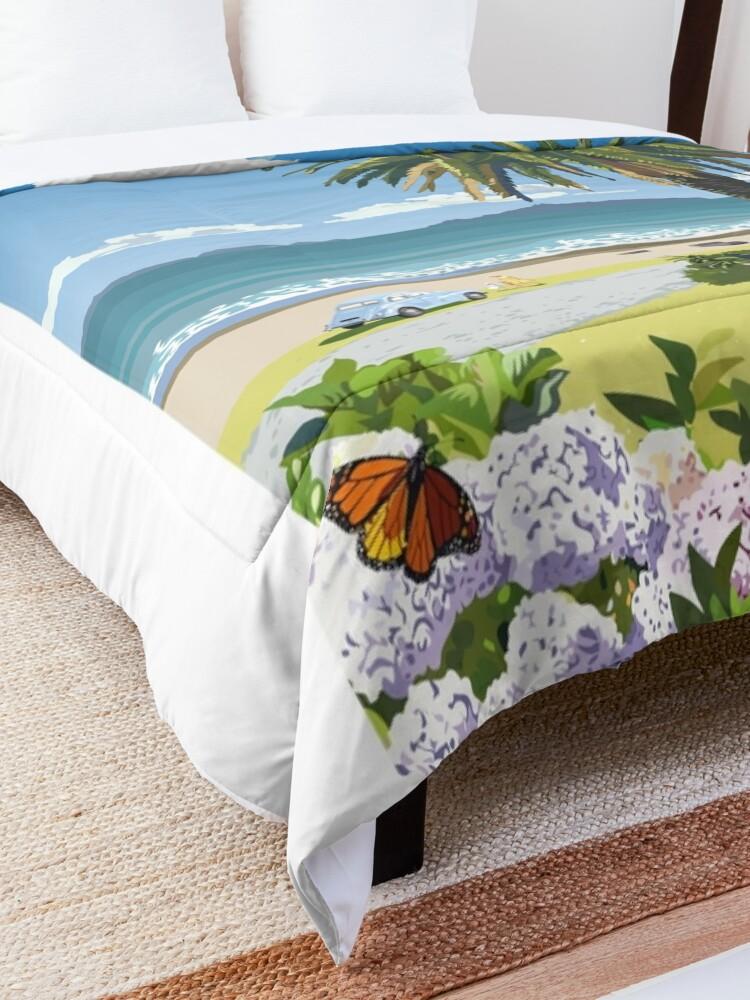 Alternate view of Langs Beach - Northland, New Zealand Comforter