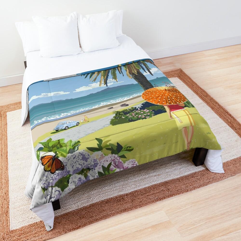 Langs Beach - Northland, New Zealand Comforter