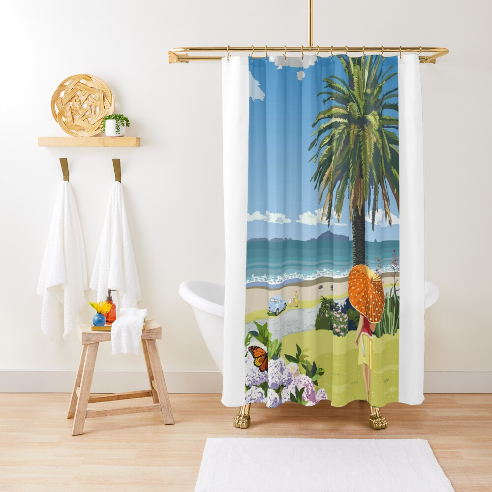 Langs Beach - Northland, New Zealand Shower Curtain