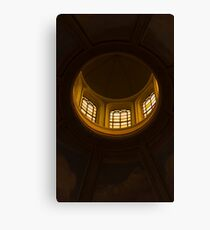 ceiling of the dome of the church Canvas Print