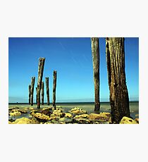 Kingscote's Ye Olde Jetty Posts @ Midnight  Photographic Print