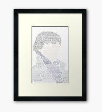 BBC Sherlock Holmes Typography Framed Print