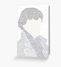 BBC Sherlock Holmes Typography Greeting Card