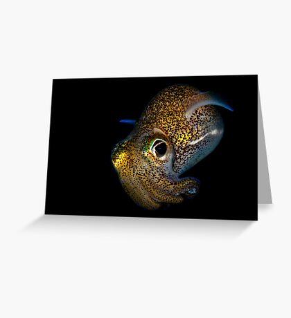 Bobtail Squid Greeting Card